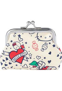 Porta Moedas Hello Kittyâ® Tattoo Old School- Bege & Vermurban