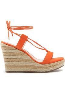 Sandália Anabela Corda Lace-Up Orange | Schutz