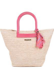Bolsa Petite Jolie Shopper Belle Sunset Feminina - Feminino-Bege+Rosa