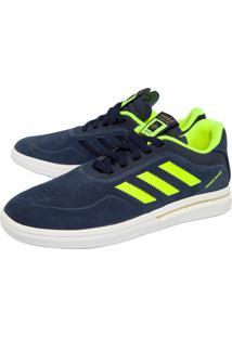 Tênis Couro Adidas Skateboarding Dorado Boost Azul-Marinho/Verde