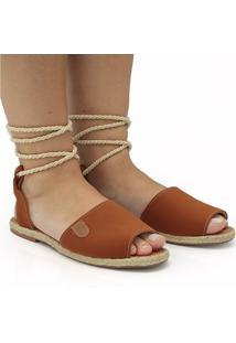 Sandalia Gladiadora Caramelo