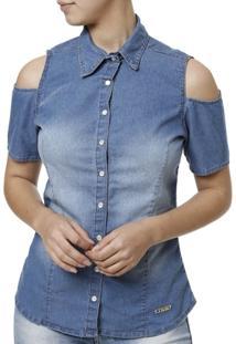 Camisa Manga Curta Feminina - Feminino
