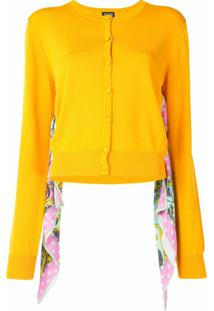 Versace Jeans Couture Cardigan Com Recorte De Lenço - Amarelo