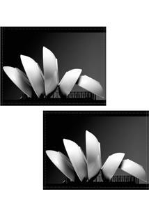 Jogo Americano Colours Creative Photo Decor - Pratos Museu Em Sydney Na Austrália - 2 Peças