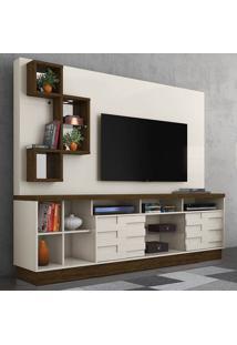 Estante Para Tv 2 Portas Heitor 633122 Off White/Savana - Madetec