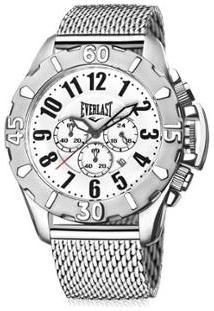 d6fb257cc19 Netshoes. Relógio Masculino Aço Silicone Analógico Everlast Pulso Cx - De  Pulseira
