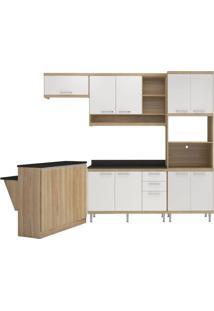 Cozinha Compacta Multimóveis Sicília 5844.132.131.610 Argila Branco Se