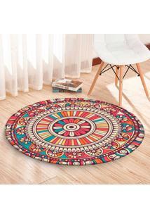 Tapete Redondo Wevans Mandala Multicolor 84Cm