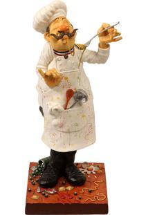 Escultura Decorativa De Resina O Cozinheiro