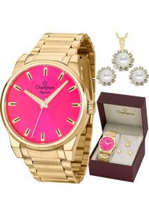 cff11c51f6a ... Kit Relógio Champion Feminino Elegance Com Colar E Brincos Cn27590J