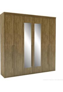 Guarda-Roupa 6 Portas 6 Gavetas Originale 100% Mdf 230 X 227 X 53 Com Espelho Álamo - Belmax Móveis