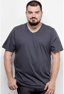 Camiseta Drezz Up Gola V Plus Size Masculina - Masculino