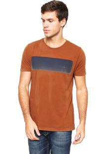 Camiseta Aramis Regular Fit Estampada Marrom