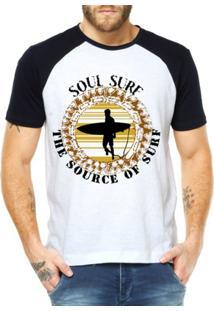Camiseta Raglan Criativa Urbana Soul Surf - Masculino