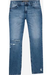 Calça John John Slim Leoben Jeans Azul Masculina (Jeans Medio, 46)