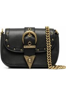 Versace Jeans Couture Bolsa Transversal Com Detalhe De Fivela - Preto