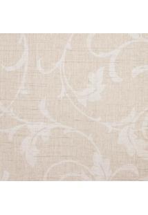 Papel De Parede Floral- Bege & Branco- 1000X52Cmshark Metais