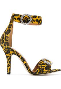 Paris Texas Sandália Animal Print - Amarelo