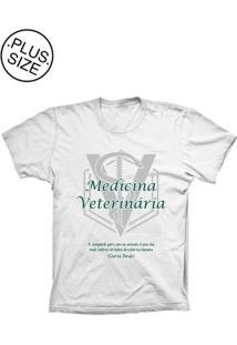 Camiseta Lu Geek Plus Size Medicina Branco