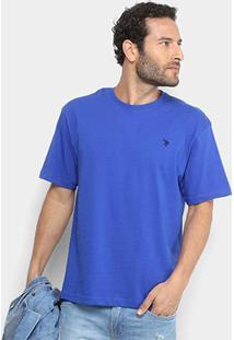 Camiseta Básica U.S.Polo Assn Manga Curta Masculina - Masculino-Azul Royal