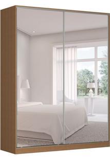 Guarda-Roupa Solteiro Com Espelho Tunas X 2 Pt 3 Gv Marrom