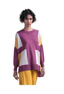 Blusa Feminina Biamar Oversized Malharia Roxo - U