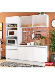 Cozinha Compacta 6 Portas Topázio G200860909 Branco - Madesa