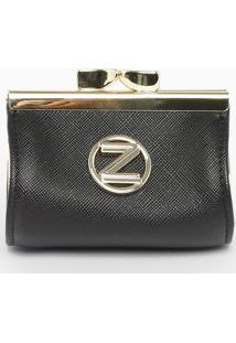 "Porta Moedas ""Z""- Preta- 9X7X6Cmarezzo & Co."