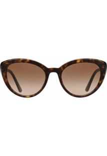 Prada Eyewear Óculos De Sol 'Ultravox' - Marrom