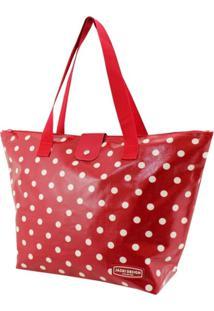 Bolsa Sacola Jacki Design Estampada Vermelho - Tricae