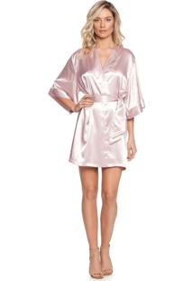 Robe Madrinha Rosa Blush/Gg
