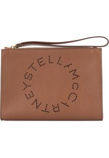 Stella Mccartney Clutch Stella Com Logo - Marrom