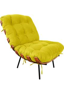 Poltrona Costela Suede - D'Rossi Amarelo
