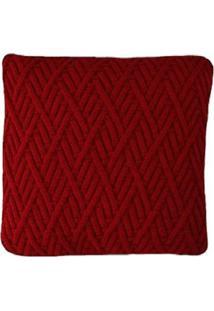 Capa Almofada Tricot 40X40Cm / 45X45Cm C/Zíper Sofa Trico Cod 1025 Vermelho