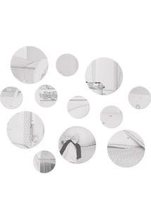 Espelho Circulos Em Acrílico - Kit 12 Peças