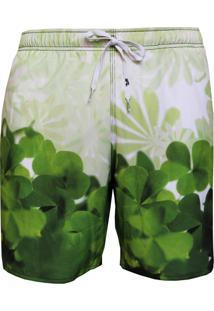 Short Alkary Elástico Trevo Verde