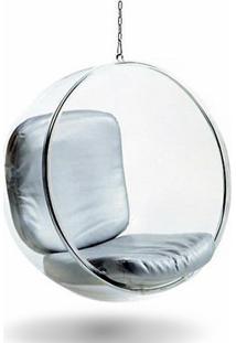 Poltrona Suspensa Bubble Chair De Teto Estrutura Em Acrílico Cremon Design By Eero Aarnio