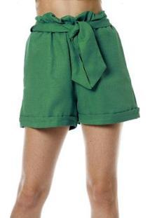 Shorts Bisô Clochard Feminino - Feminino-Verde