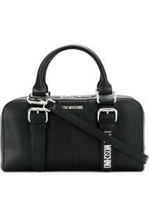 Love Moschino Dual-Buckle Tote Bag - Preto