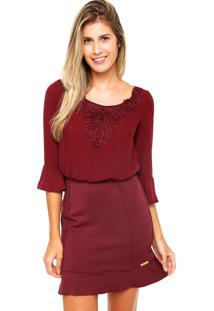 93f702402 Vestido Recorte Vinho feminino | Shoelover