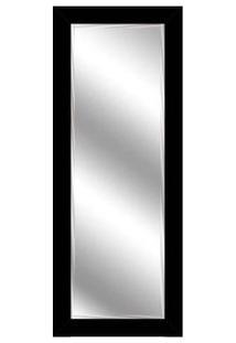 Espelho Bisotê Emoldurado 56X136Cm Preto Euroquadro
