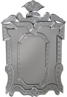 Espelho Em Relevo- Espelhado & Prateado- 60X42X10Cm
