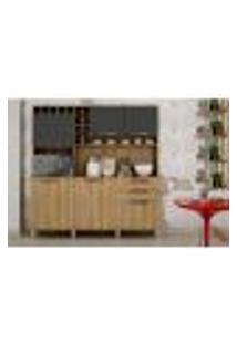 Cozinha Compacta Topazio 6 Pt 2 Gv Carvalho E Grafite