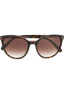 Stella Mccartney Eyewear Round Frame Sunglasses - Marrom