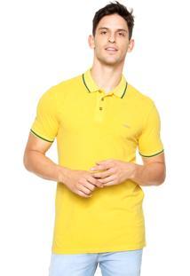 Camisa Polo Colcci Brasil Amarela