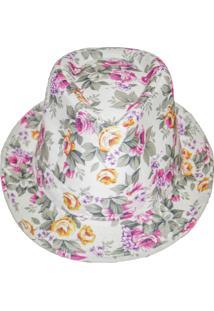 Chapéu Real Arte Florido Branco