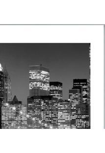Quadro Contemporâneo Cidades 33X33 Cm Branco