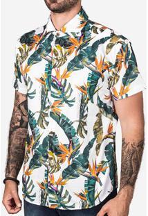 Camisa Tropical Branca 200357