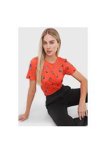 Camiseta Morena Rosa Cajus Laranja