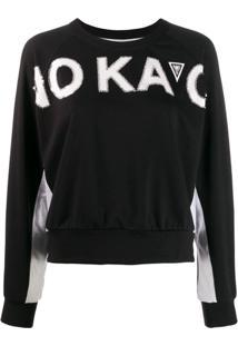 No Ka' Oi Suéter Com Logo - Preto
